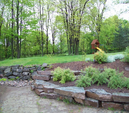 Limestone garden walls howe island nature 39 s way - What is lime used for in gardening ...