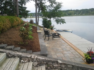 Mondrian Slab patio at the side of the St.Lawrence river