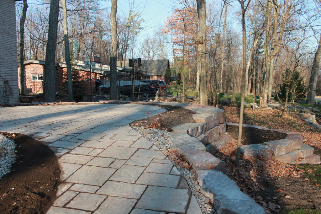 Amalfi pavers from Permacon blend with the natural Limestone