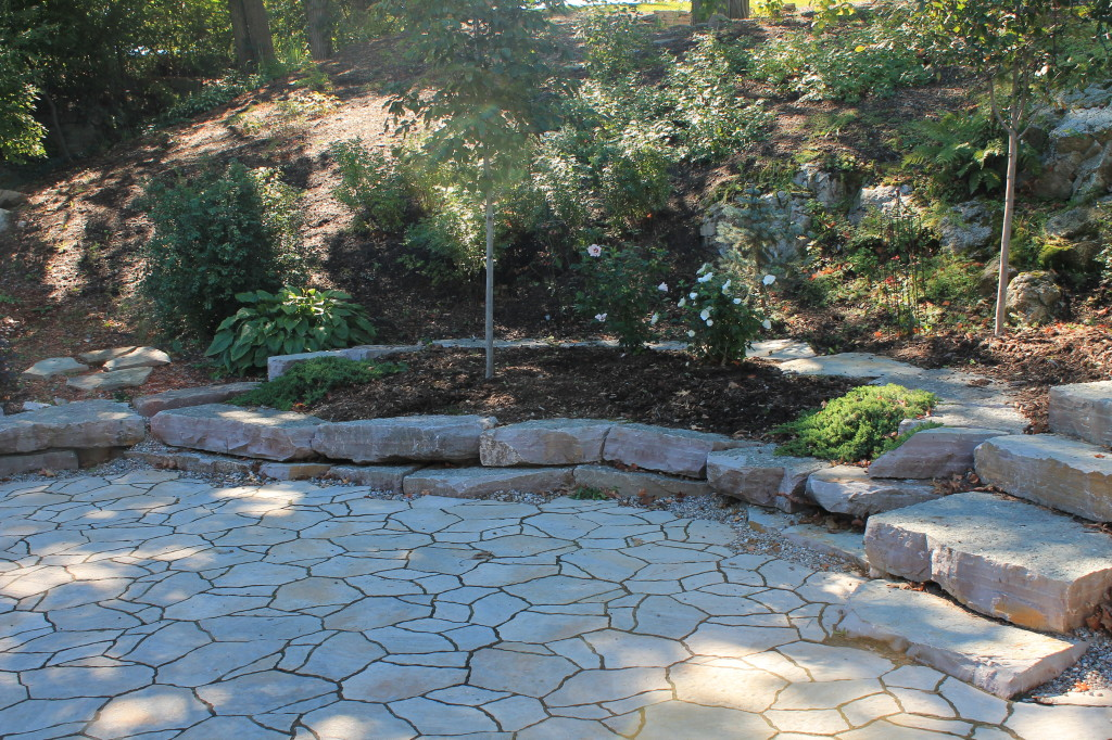 Driveway / Patio using Mega Arbel pavers from Permacon